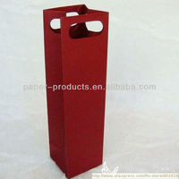 craft paper wine bags with die cut handle from China supplier