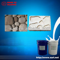 HTV-2 high temperature silicon molding rubber for concrete cobblestones