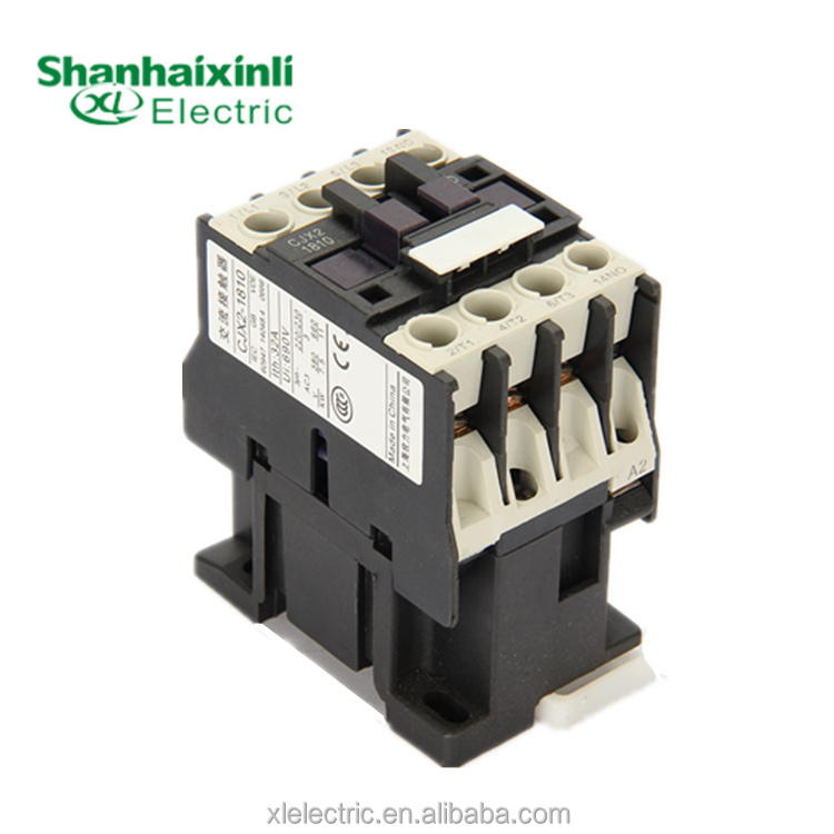 XINLI High quality yueqing factory supply 3P 380V magnetic ls contactor LC1 18A types of contactor with CE CJX2(LC1)-D1810