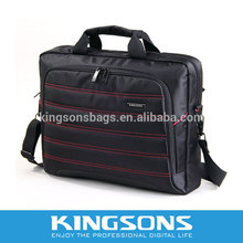 stripe leather bag for 15.6 inch notebook computer