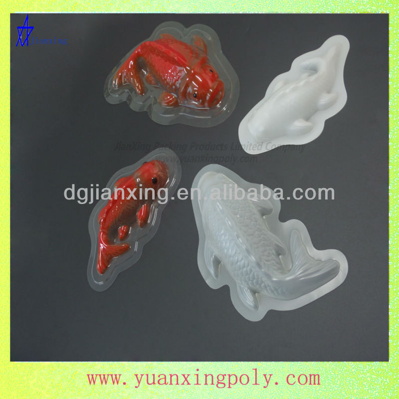 plastic artistic fish shape blister products