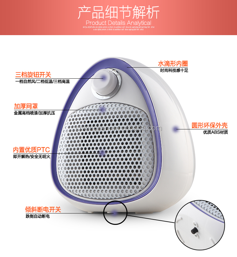 Portable Energy Efficient Room Electric Heater with blower