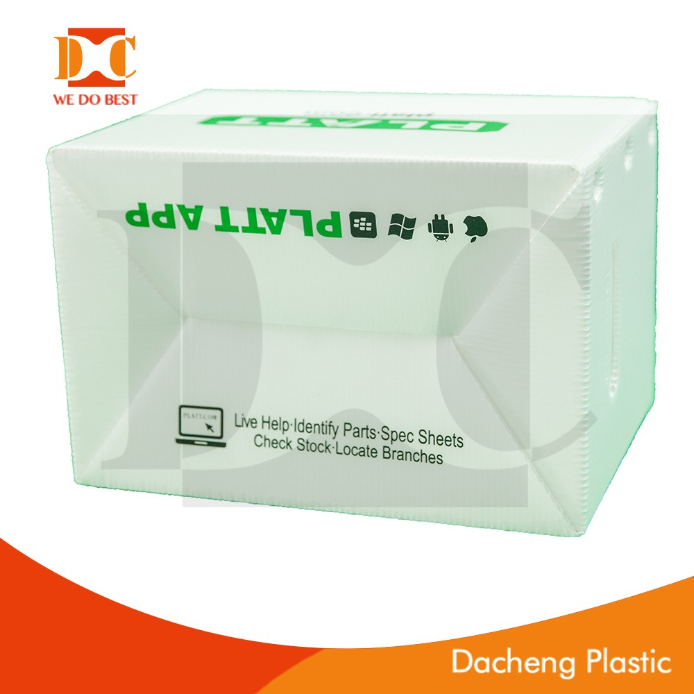 white color pp corrugated box/pp hollow box