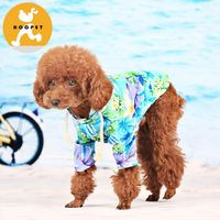Hawaii floral printed dog clothes patterns free style coat for pets