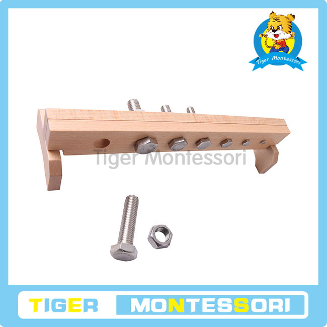 The wooden educational toys.Montessori Materials.wooden toy.Nuts and Bolts