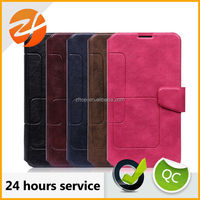 Wholesale OEM unique design card slot leather case for Samsung galaxy note 3, for samsung note 3 cover