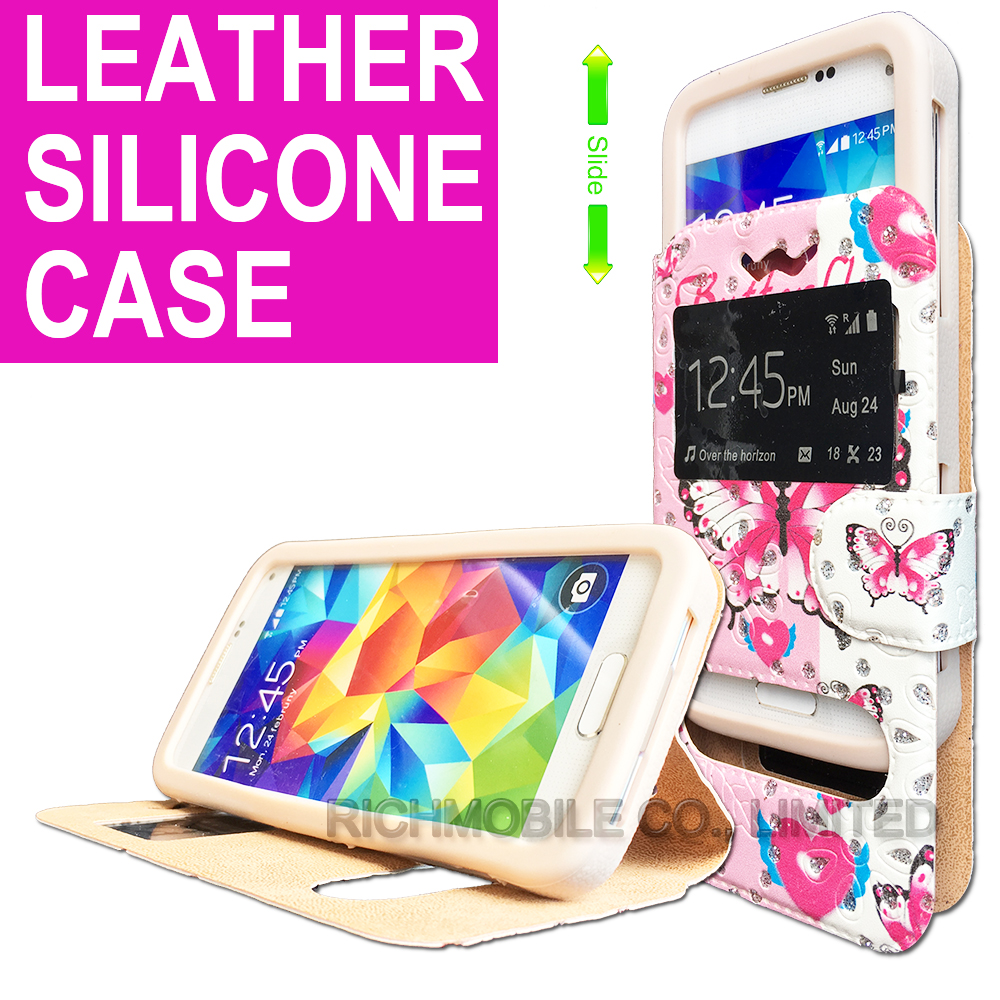 for Uhappy UP720 Rhinestone Maple 3D Relief Print Soft Silicone Leather Slider Book Wallet Stand Case Cover Universal