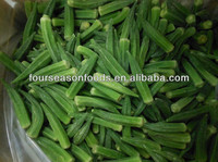 2016 Best offer iqf frozen okra whole , cuts , chopped okra