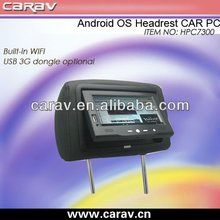 4.0 andriod car headrest pc avec wifi et usb dongle 3g