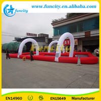 Kids Toys Cars Race Track, Inflatable Go Kart Track For Sale