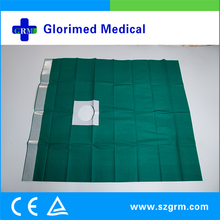 Waterproof Disposable Incision Drape Made of Viscos Sheet Laminated with PE Film