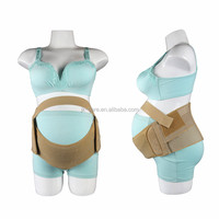 Breathable Elastic Maternity Back Support Belt Ergonomically Reinforced Pregnancy Belly Brace for Lower Back
