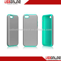 Seal combination sets PC + silicone white and blue case for iphone5c/5s