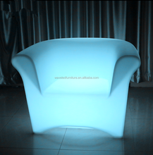 Modern plastic color changing single seater led sofa chair