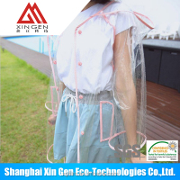 TPU rain poncho eva raincoat clear plastic raincoat