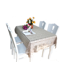 Geometric patterns polyester lace tablecloth