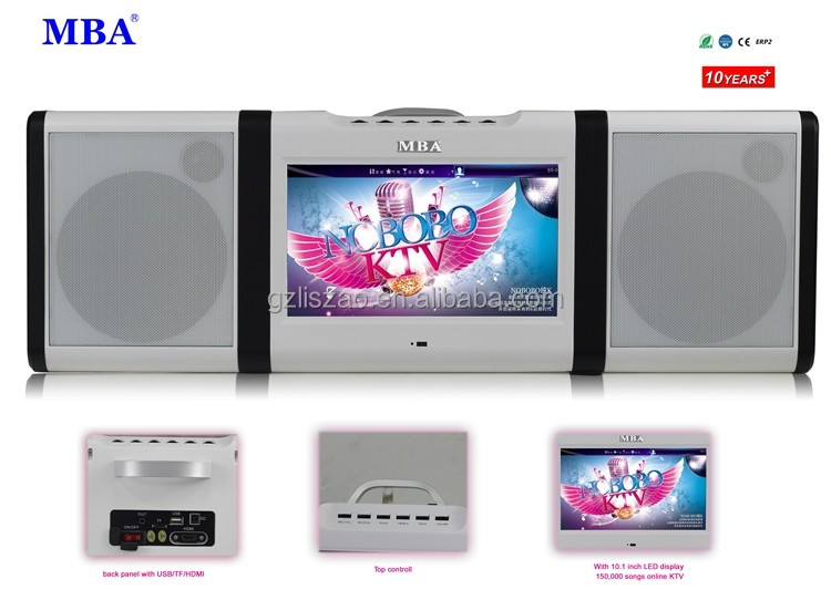 new design and modern fashion touch screen WIFI/bluetooth speaker