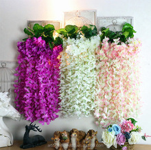 New Product 2017 Hanging Flower Balls for Wedding Wisteria Artificial Flower Vine