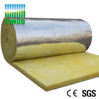 Glass wool insulation with aluminium foil/glass wool acoustic wall panel