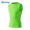 quick dry dri fit sports compression T shirt mens gym baseball tank top men