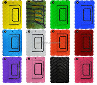 New product Heavy duty tyre silicon hard case for ipad mini