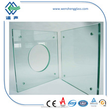 high strength customized tempered glass with hole drilling with en-12150-1