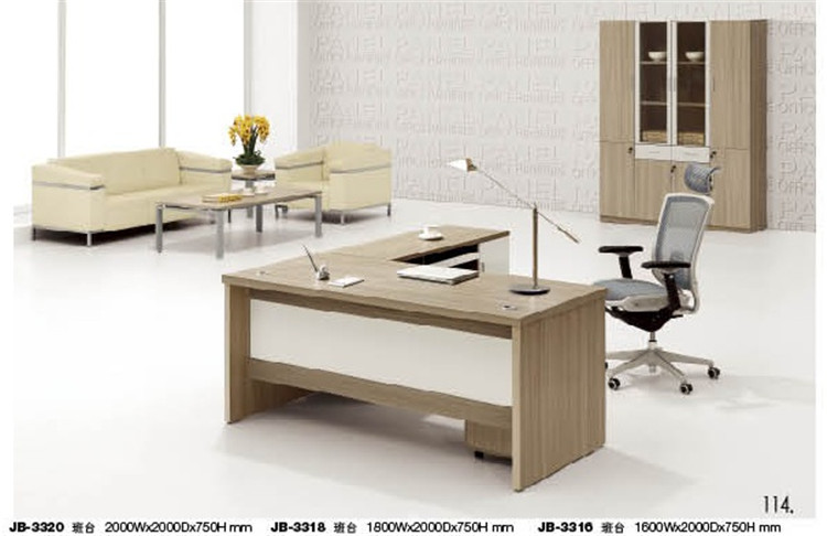 White cherry wood modern office table