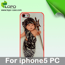 PC Material Sublimation case for iPhone 5