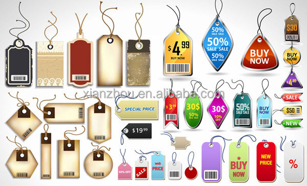 Custom cheap bag hang tag string 2016