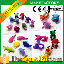 cute 3d free rubbered animals shaped erasers supplier for novelties goods from china