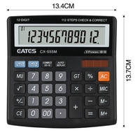 112 Steps Check & Correct Mini Desk Type 12 digits Electronic Calculator