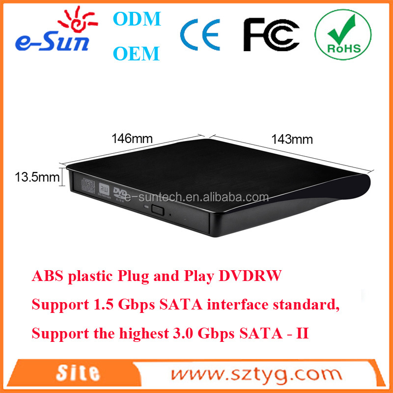 mini laptop with dvd drive Slim Tray loading External USB 3.0 DVD / CD ROM Drive / Burner / Writer/dvd duplicator for laptop