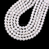 New Arrivals Natural Semi-precious Stone AB Color Plating White Jade 128 Faceted Round Beads