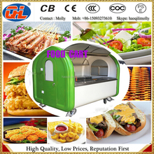 Best selling Stainless steel hot dog cart | street mobile food van with China supplier