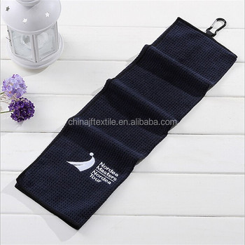 China Factory Custom Printed Microfiber Waffle Golf Towel for sale