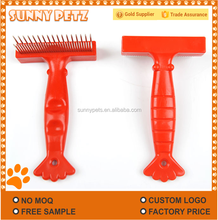 Double Row Rake Two Sided Grooming Pet Comb Deshedding Undercoat Rake Dog Brush