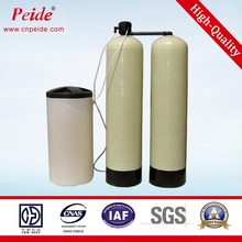 Salt water treatment system water softener