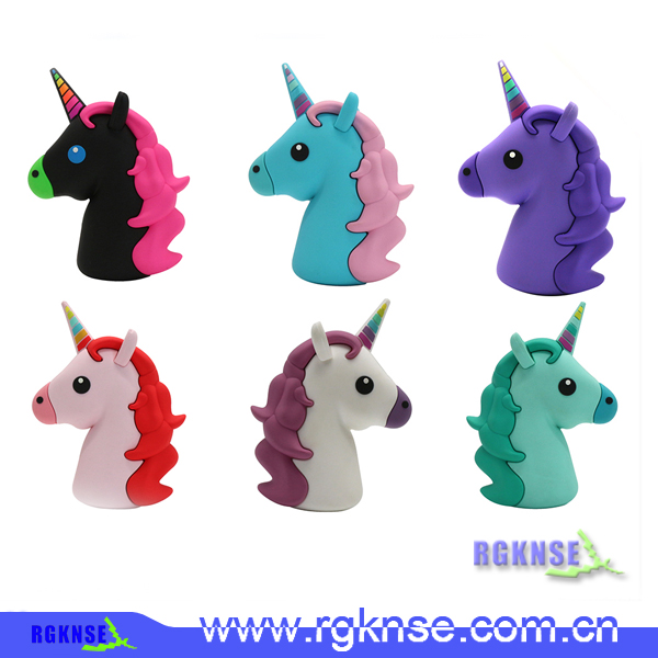Portable emoji Power bank 2600mah giftunicorn power bank, unicorn powerbank for mobile Phone