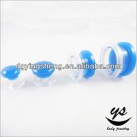 Plastic flesh tunnel acrylic custom ear gauge plugs
