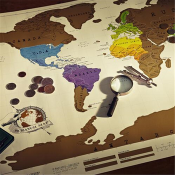 CT-483 Travel essential Explore Map world map Creative Stickers
