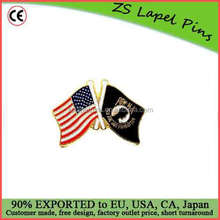 Free artwork design custom quality POW MIA And USA Flags Lapel Hat Pin Marines Army Navy Air Force Military PPM025