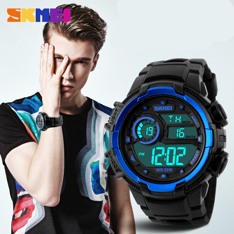 Multifunctional products brand digital sports watch plastic bracelet