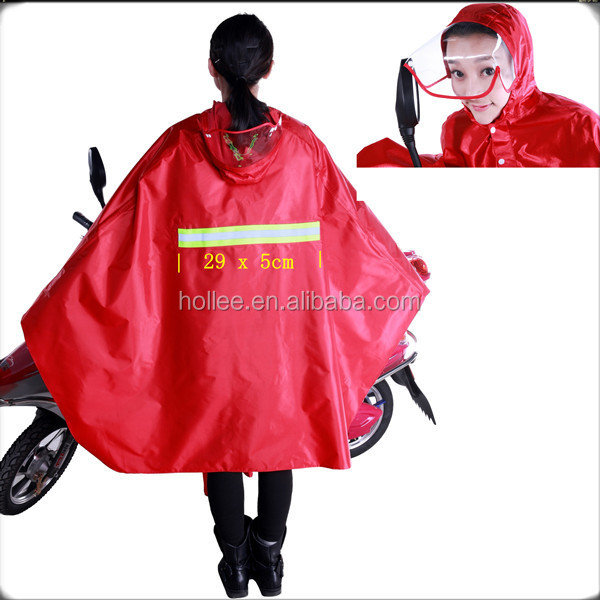 HL2904-A polyester with PVC coating bicycle motorcycle raincoat