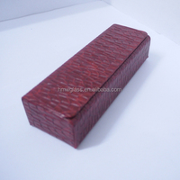 custom woven pattern wine leather rectangular handmade eyeglasses case