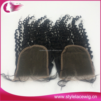 Hot selling 6a grade virgin indian hair closure, remy lace front closure with baby hair