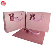 Luxury Small Paper Shopping Bag Ribbon Tie Cheap Personalized Gift Bags With Handles Wholesale