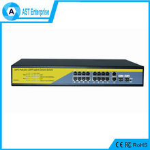 Gigatype 16 port industrial poe switch 100/ 1000M Base with 24V 48V power adapter