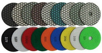 Quality hot-sale triangle type diamond dry polishing pad