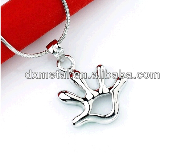 smile hand jewelry silver hand pendant hand charm new