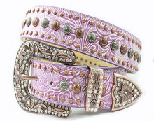 Western women purple rhinestone belt